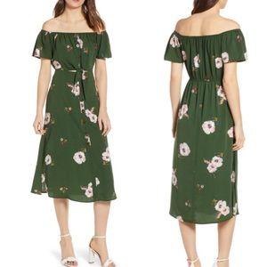 🆕 ROW A Off The Shoulder Midi Dress Size Medium